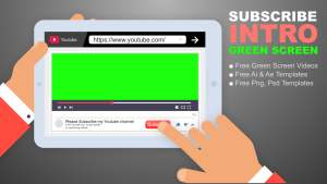 Download free youtube subscribe intro new design green screen mtc tutorials