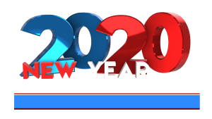Happy new year 2020 3D text royalty free transparent images Download