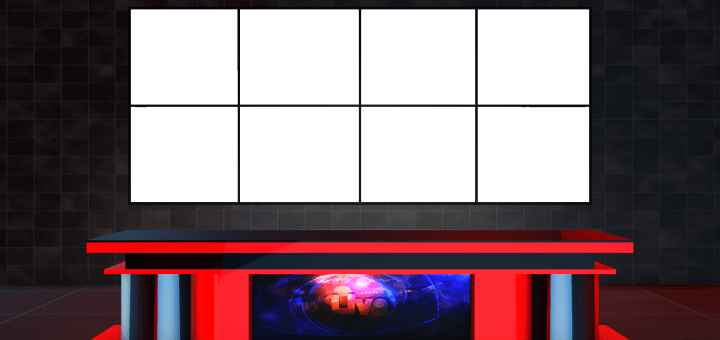 Free virtual set with png transparent background news desk download
