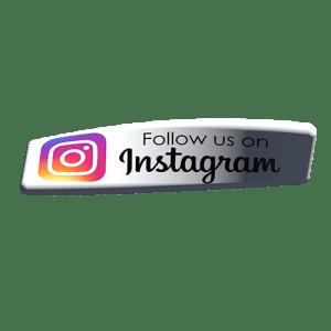 Instagram follow us 3D buttons
