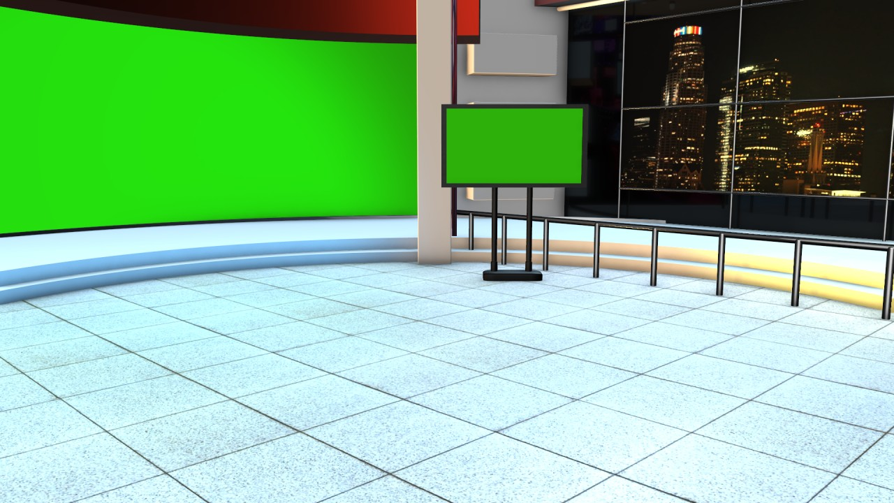 news studio green screen for kinemaster
