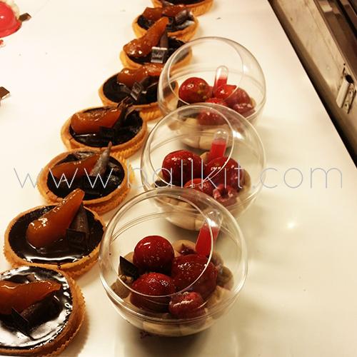 Boules présentoirs contact alimentaire