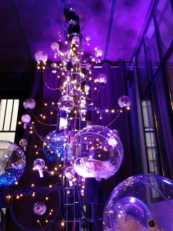 Boules transparente à garnir et guirlandes LED