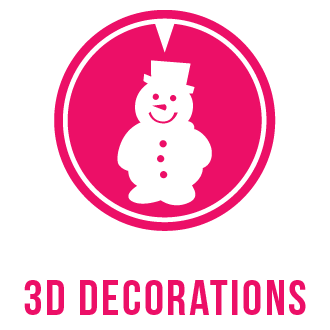 3D decorations icon