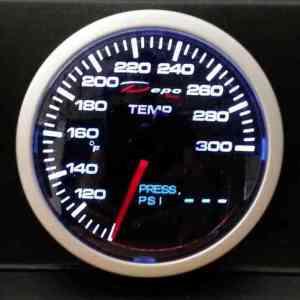 Manometro 2 in 1 - Temperatura Acqua/Olio + Pressione Olio - Depo Racing - 60mm