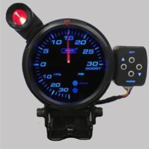 Manometro Pressione Turbo Analogico + Allarme - Prosport - 80mm