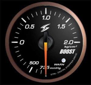 Manometro Pressione Turbo Analogico + Allarme - Stri - 52mm