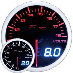 Manometro Voltmetro Analogico e Digitale - Depo Racing - 52mm