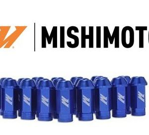 Kit 20 Lug Nuts Blu Mishimoto con Antifurto - M12x1,25/1.5
