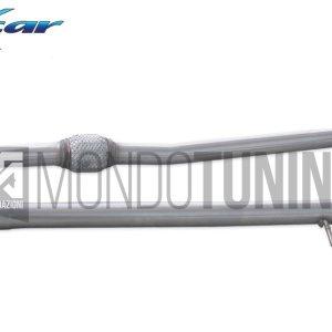 TC500 tubo centrale diretto non omologato flessibile scarico acciaio inox 500 595 695 abarth inoxcar mondotuning mtelaborazioni