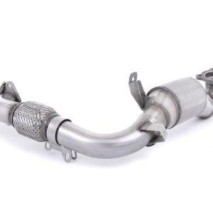 SSXFD102 downpipe cat kat catalizzato catalizzatore 200 celle sportivo metallico hjs milltek acciaio inox scarico ford fiesta mk7 mk7.5 1.0 ecoboost 100cv 125cv 140cv hp mondotuning mtelaborazioni