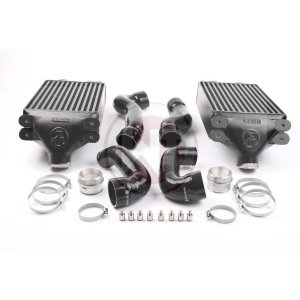 Performance Intercooler Kit for Porsche 996 Porsche 996 Turbo S Porsche 996 Turbo S 200001020 wagner wagnertuning mondotuning mtelaborazioni The Wagner Tuning Porsche 996 911 Turbo (S) Intercooler Kit is a high performance redesign of the original OEM intercooler designed specifically for the 996TT Tuning Enthusiast. Our engineers have increased the intercooler core size and efficiency