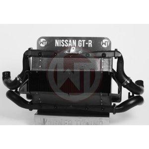 Comp. Intercooler Kit Nissan GT-R 35 2008-2010 Nissan GT-R R35 Nissan GT-R R35 200001055 wagner wagnertuning mondotuning mtelaborazioni COMPETITION INTERCOOLER-KIT NISSAN GT-R35Item no.: 200001055  200001106The competition intercooler for Nissan GT-R has the following core size 2x (360mm x 294mm x 110mm)= 23