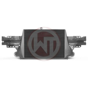 Competition Intercooler Kit EVO 3 Audi TTRS Audi TTRS 8J Audi TTRS 8J 200001056 wagner wagnertuning mondotuning mtelaborazioni now available with TÇ?V certificate!The Intercooler Kit for Audi TTRS 8J EVO3 is a further development of the previously known EVO2 intercooler kit.The high performance intercooler has the following core dimension (515mm x 367 [274] mm x 95mm) and thus offers a 120% larger cooling surface and 142% more charge air volume compared to the original intercooler. The newly developed Competition Core granted the adjacent components