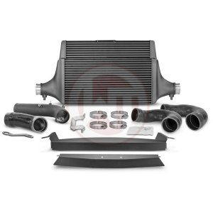 Comp. Intercooler Kit + Pipe Kia Stinger GT (EU) Kia Stinger Kia Stinger GT 3.3 BiTurbo 200001142.PIPE wagner wagnertuning mondotuning mtelaborazioni COMPETITION INTERCOOLER KIT Kia Stinger GT 3.3T-Gdi AWD  RWD (EU)The WAGNERTUNING high-performance intercooler has got a new competition core (Tube Fin) with the dimensions 600 mm x 445(315) mm x 105(60) mm / 23