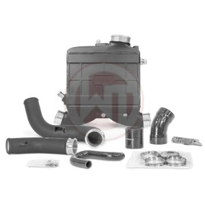 Performance Intercooler Kit Mercedes Benz C43 AMG Mercedes Classe C W205 Mercedes C 43 AMG 200001157.NOWMI wagner wagnertuning mondotuning mtelaborazioni Performance INTERCOOLER KIT Mercedes Benz C43 AMG The 3.0 Liter V6 biturbo engine (M 276 DE 30 AL) of Mercedes C43 AMG models is equipped with an indirect charge-air cooling circuit. So the cooling of the charged air is realized by a watercooled intercooler which will be replaced by this WagnerTuning high-performance intercooler. The WAGNERTUNING high-performance intercooler has got a new performance core  with the external core dimensions 222 mm x 297 mm x 95 mm / 8
