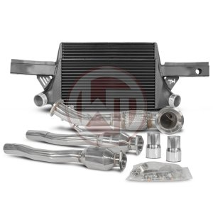 Competition Package EVO3 Audi RS3 8P Audi Packages Audi 700001004 wagner wagnertuning mondotuning mtelaborazioni The Competition package for the Audi RS3 8P consists of the intercooler upgrade kit EVO3 and the downpipe kit.Intercooler Upgrade Kit 200001059The intercooler kit for Audi RS3 8P EVO3 is a further development of the previously known EVO2 intercooler kit.The high performance intercooler has the following core dimension (515mm x 367 [274] mm x 95mm) and thus offers a 120% larger cooling surface and 142% more charge air volume compared to the original intercooler. The newly developed competition core granted the adjacent components