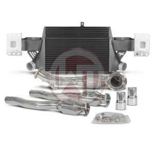 Competition Package EVO3 Audi TTRS 8J Audi Packages Audi 700001005 wagner wagnertuning mondotuning mtelaborazioni The Competition package for the Audi TTRS 8J consists of the Intercooler Upgrade Kit EVO3 and the Downpipe Kit.Intercooler Upgrade Kit 200001056The Intercooler Kit for Audi TTRS 8J EVO3 is a further development of the previously known EVO2 Intercooler Kit.The High Performance Intercooler has the following core dimension (515mm x 367 [274] mm x 95mm) and thus offers a 120% larger cooling surface and 142% more charge air volume compared to the original intercooler. The newly developed Competition Core granted the adjacent components