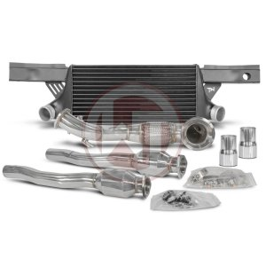 Competition Package EVO2 with catalyst Audi RS3 8P Audi Audi RS3 Audi RS3 8P 700001038 wagner wagnertuning mondotuning mtelaborazioni The Competition package for the Audi RS3 8P consists of the intercooler upgrade kit EVO2 and the downpipe kit.Intercooler Upgrade Kit 200001033The Intercooler Upgrade Kit from WAGNERTUNING for Audi RS3 EVO II with integrated crossmember is a high performance redesign of the original OEM intercooler designed specifically for the Audi tuning enthusiast.Our engineers have increased the intercooler core size and efficiency