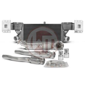 Competition Pack EVO2 with catalyst Audi TTRS 8J Audi Audi TTRS Audi TTRS 8J 700001039 wagner wagnertuning mondotuning mtelaborazioni The Competition Package for the Audi TTRS 8J consists of the Intercooler Upgrade Kit EVO2 and the Downpipe Kit.LadeluftkǬhler Upgrade Kit 200001024The WAGNERTUNING intercooler TTRS 8J EVO 2 is made for Audi TT RS and includes an integrated crossmember.Our engineers have increased the intercooler core size and efficiency