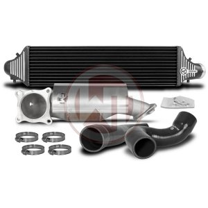Competition Package Honda Civic Type R [FK2] Honda Civic Honda Civic FK2 700001053 wagner wagnertuning mondotuning mtelaborazioni The Competition Package for Honda Civic Type R consists of the Intercooler Upgrade Kit and Downpipe Kit with 200CPI racing catalyst.Intercooler Upgrade Kit 200001086The High Performance Intercooler has the following core dimension (650mm x 175mm x 110mm) and thus offers a 23% larger cooling surface and 101% more charge air volume compared to the original intercooler. The newly developed Competition Core granted the adjacent components
