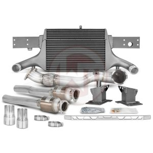 Comp. Package EVO3 RS3 8V with cat pipes Audi Audi RS3 Audi RS3 8V 700001067.ACC wagner wagnertuning mondotuning mtelaborazioni The competition package for theAudi RS3 8V Sportback/Sedan 294KW/400PS (08/2017+) consists of the Intercooler Upgrade Kit EVO3 and the Downpipe Kit.Intercooler Upgrade Kit 200001081The high performance intercooler has the following core dimension (515mm x 367mm x 95mm = 16