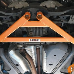 F-MK3-RS4 barra rinforzo tunnel posteriore differenziale ponte ford focus rs mk3 summit FOCUS MK3 RS REAR LOWER 4 POINT SUBFRAME BRACE