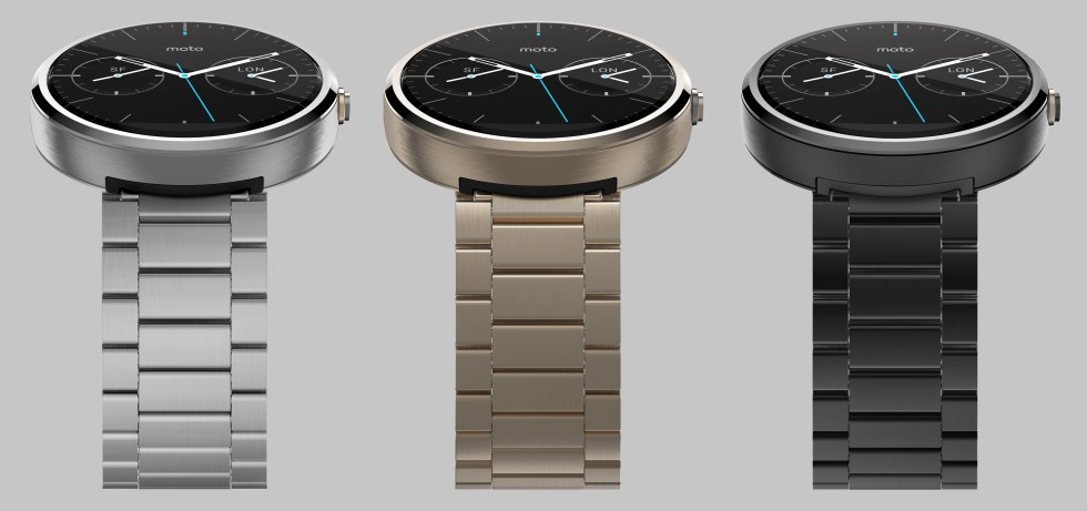 Moto 360 Rendered Color Variations