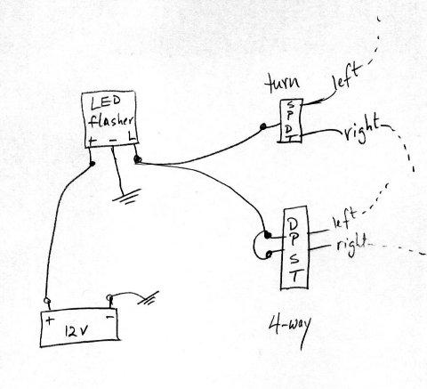Motorcycle Led Turn Signal Wiring Diagram Hobbiesxstyle