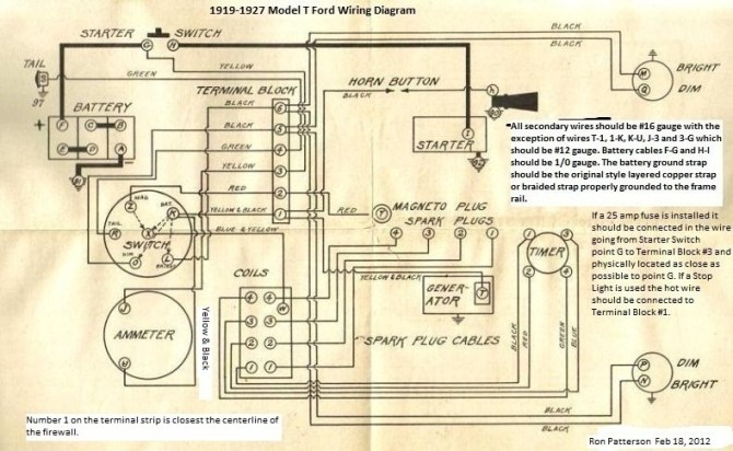 model t ford forum anyone have detailed/colored wiring