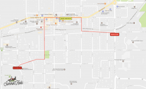 Frolic Parade route