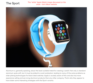 """the """"overexposed"""" white appearing Apple Watch"""