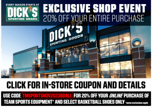 Exclusive Shop Event 20% off your entire purchase