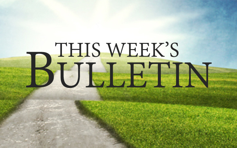 Image result for This week's bulletin