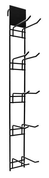 Торговый дисплей с крючками 5х2 (черный)