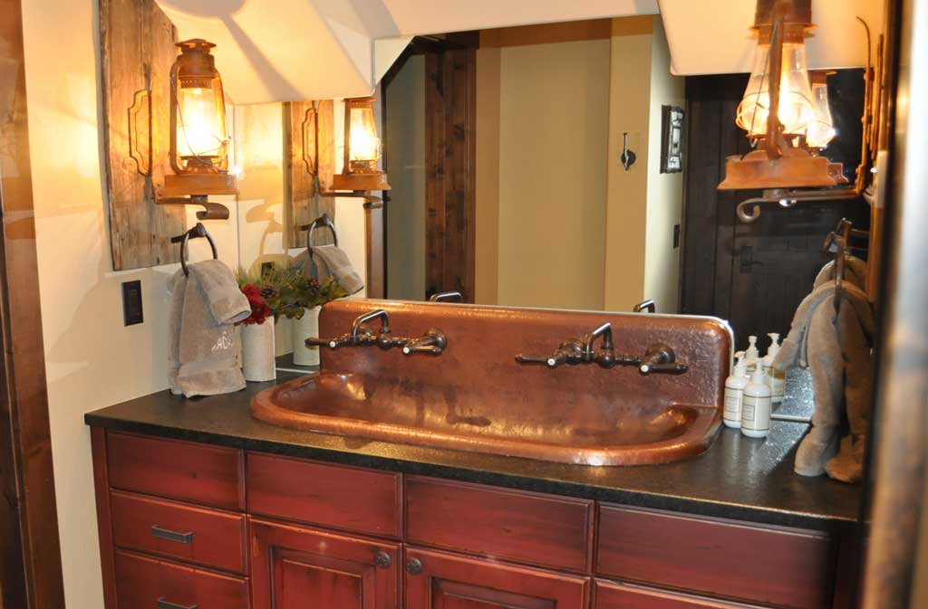 Copper Trough Sink High Back Built To Order Mountain