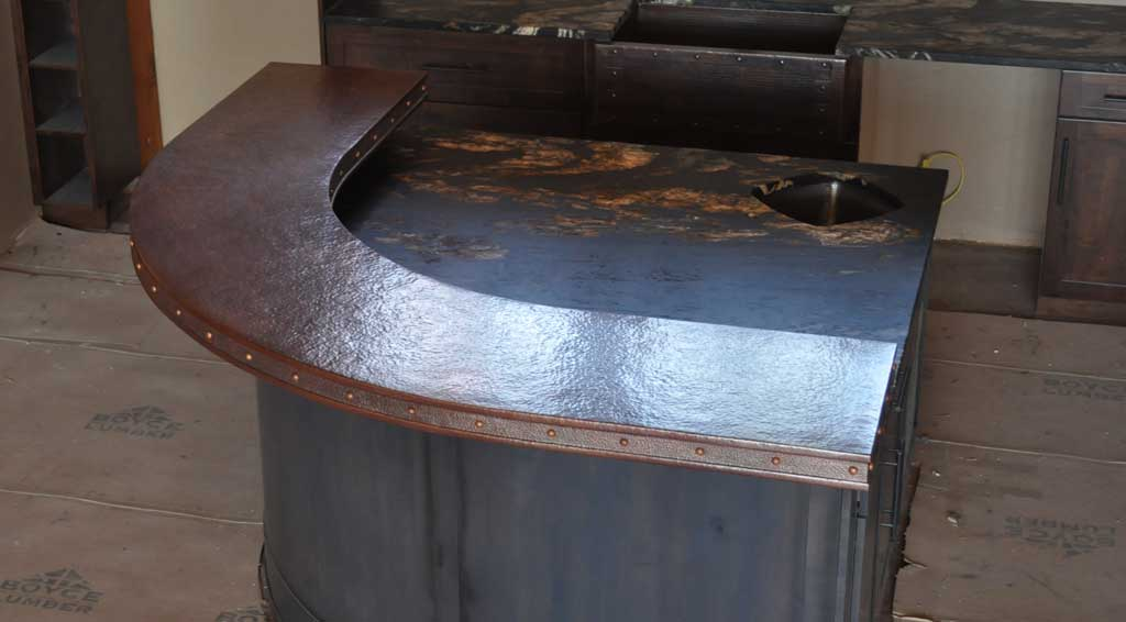 Counter Tops Tables And Panels Mountain Copper Creations