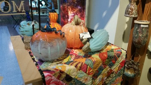 Halloween Decor Ideas: handblown glass pumpkins