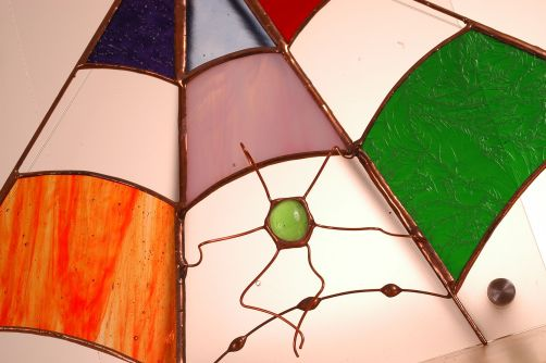 Halloween Decor Ideas: handcrafted glass spider webws