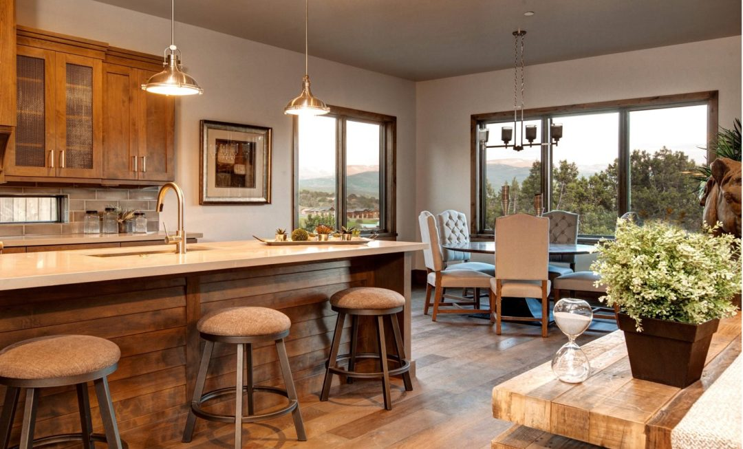 Mountain Refined Contemporary Dining Room