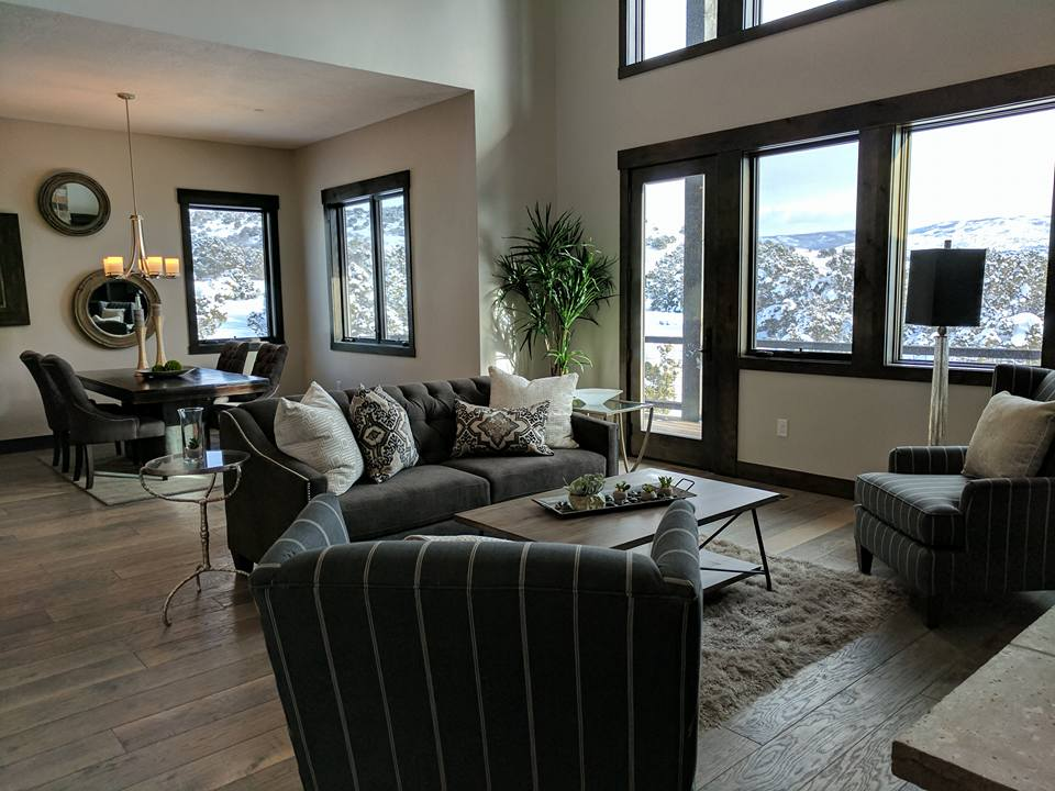 Mountain Refined Contemporary Living Room