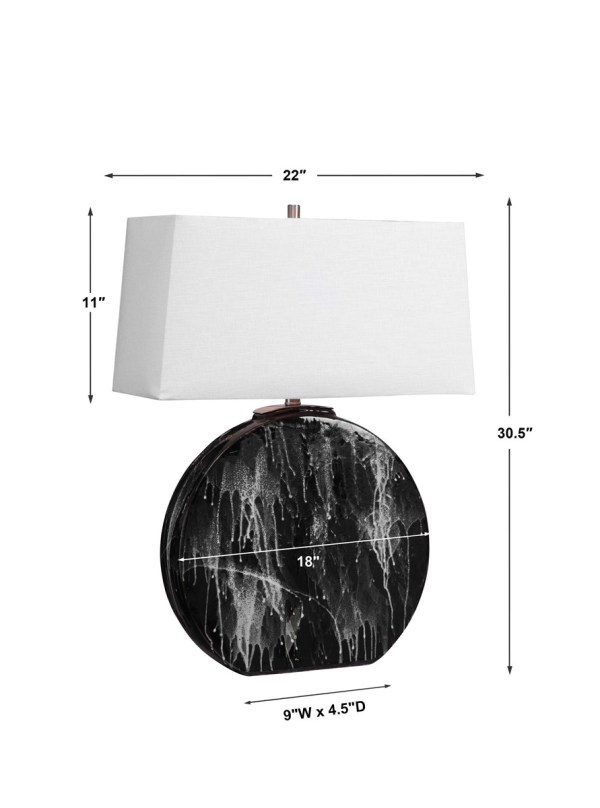 Snow Storm Table Lamp