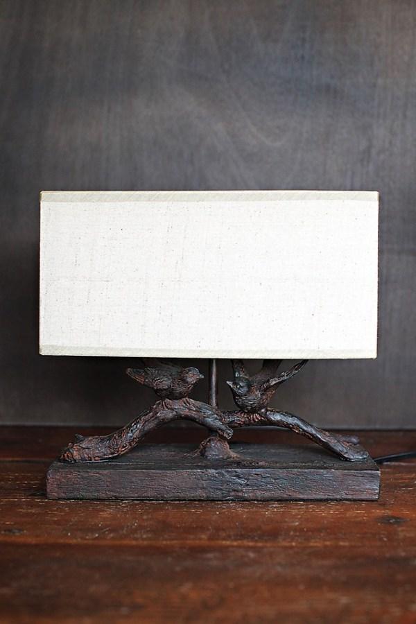 resin bird lamp