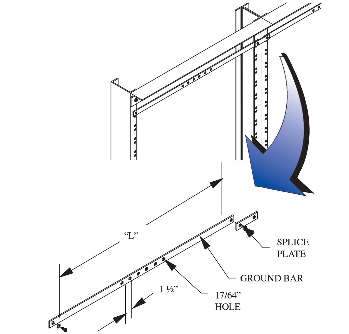 Relay Rack Ground Bar