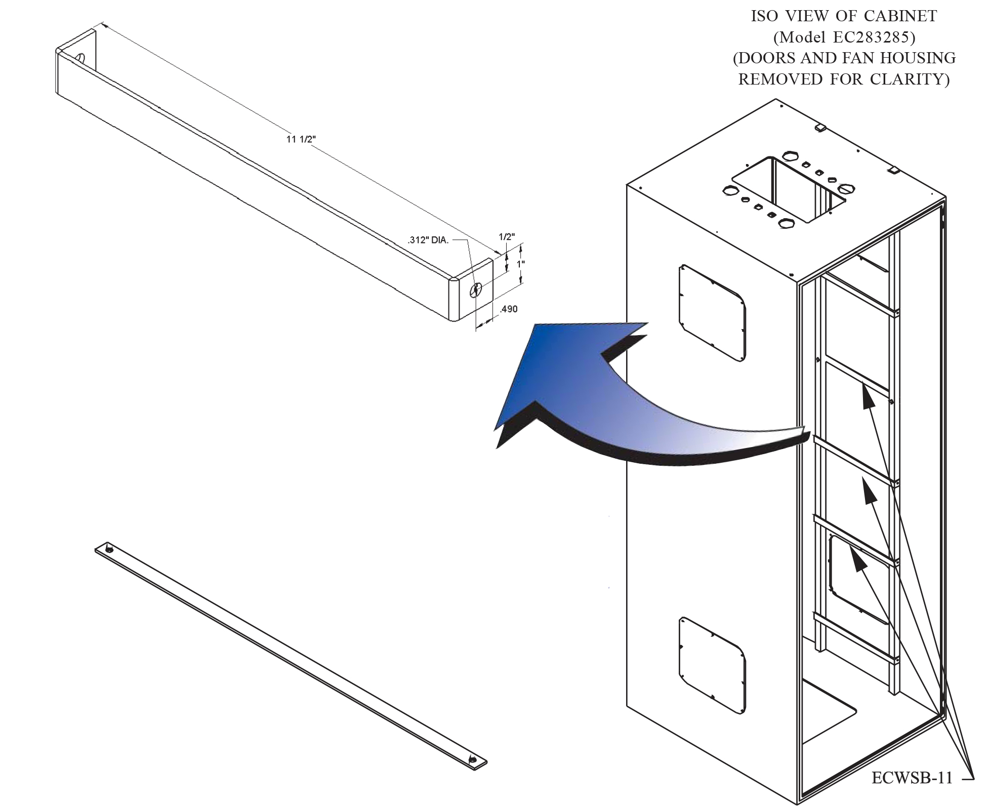 Cabinet Cable Wire Bracket