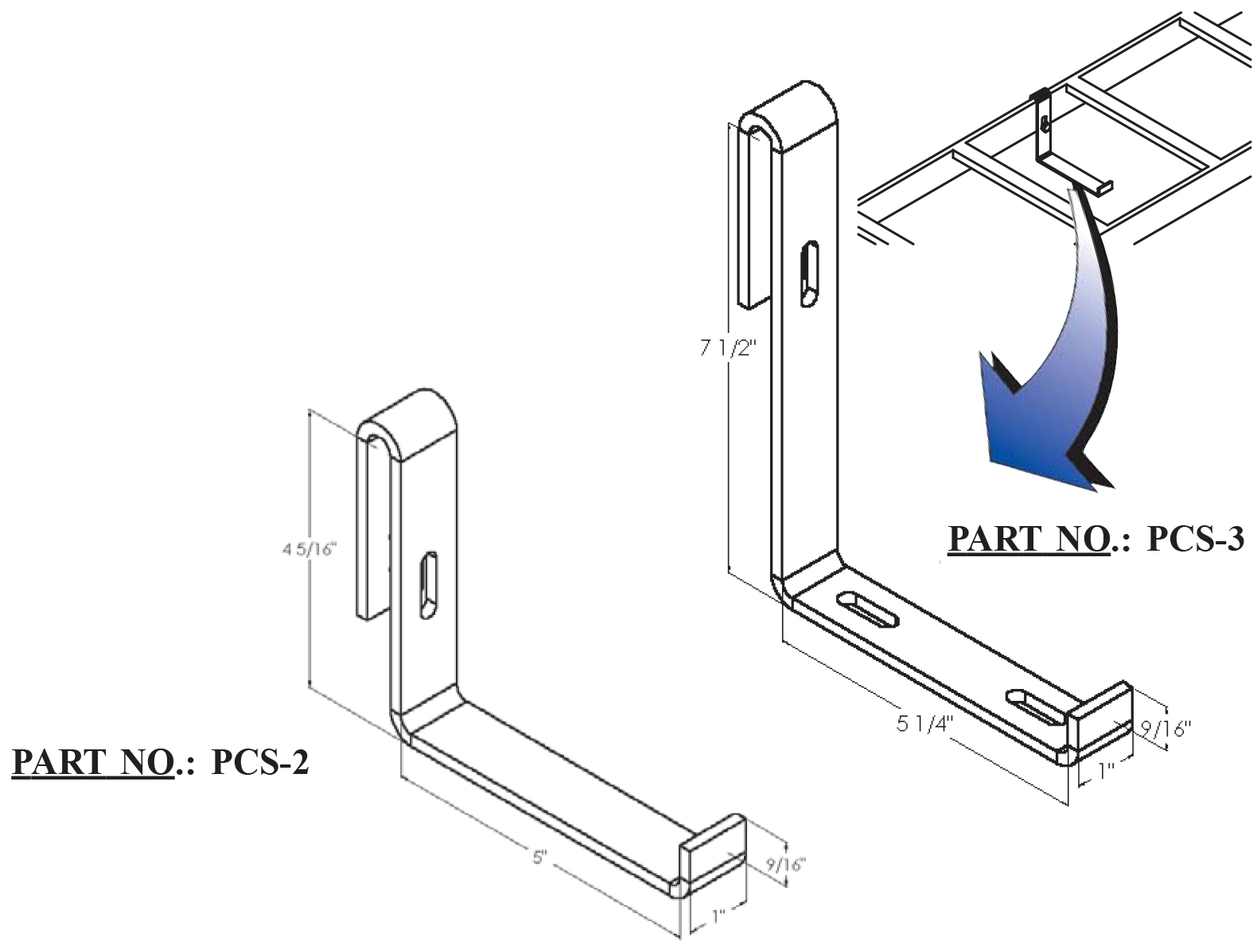 Power Cable Support Bracket Pcs 2