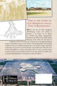 History of Randhurst Shopping Center Back Cover by Greg T. Peerbolte