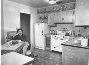 A typical 1950s kitchen