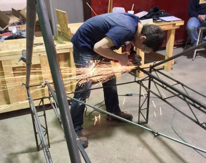 Fabricating steel bridge, concrete canoe