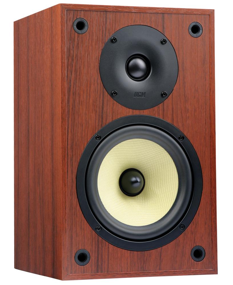 "tp160s-ch 6.5"" 100-watt rms dcm bookshelf speaker pair - cherry"